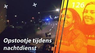 Aanhouding door de politie tijdens de nachtdienst.
