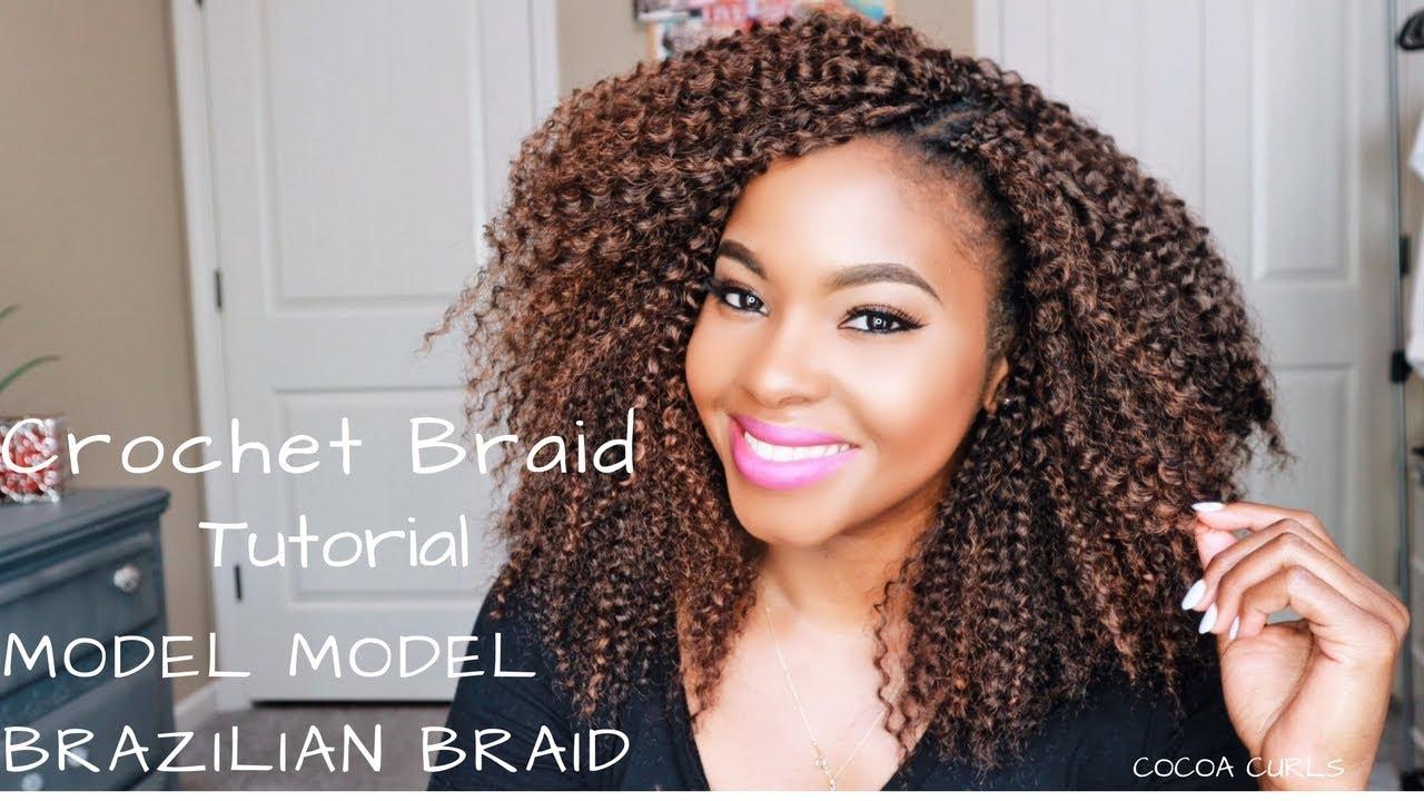 Crochet Braid Easy Tutorial Model