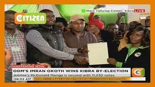 IEBC announces Imran Okoth as the New MP of Kibra