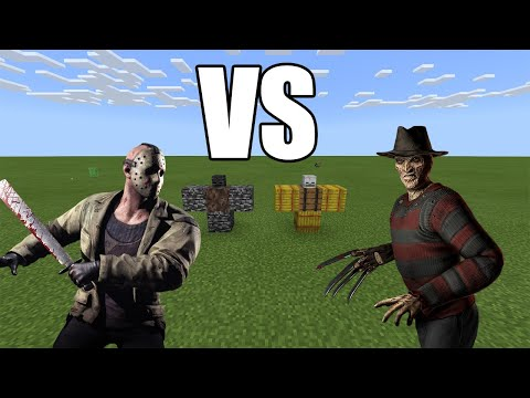 JASON Vorhees Vs FREDDY Krueger - Minecraft