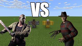 JASON Vorhees vs FREDDY Krueger - Minecraft
