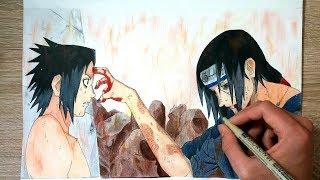 Speed Drawing - ITACHI AND SASUKE UCHIHA !