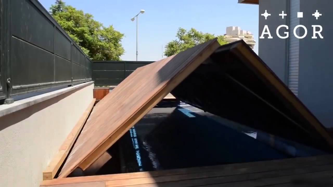 Moveable floors for swimming pools youtube - Covering a swimming pool with decking ...