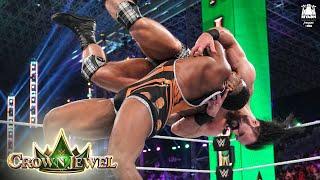 Drew McIntyre kicks out of the Big Ending WWE Crown Jewel 2021 WWE Network Exclusive