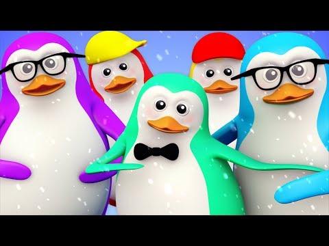 Five Little Penguins | Nursery Rhymes For Kindergarten Kids | Children Cartoon Collection By Kids Tv