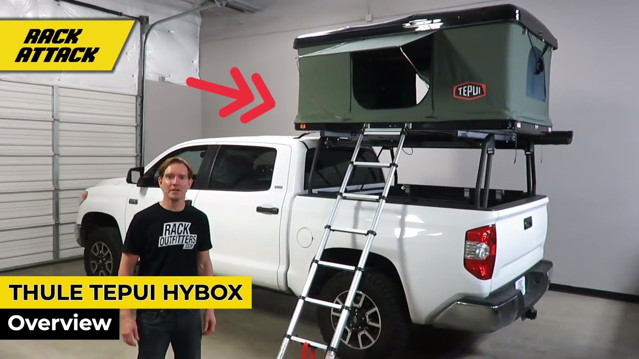 quick look tepui hybox hard shell two person roof top tent and cargo box