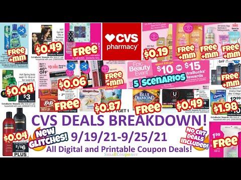 CVS Deals Breakdown 9/19/21-9/25/21! Glitches! Freebies & Moneymakers! Digital & Printable Coupons