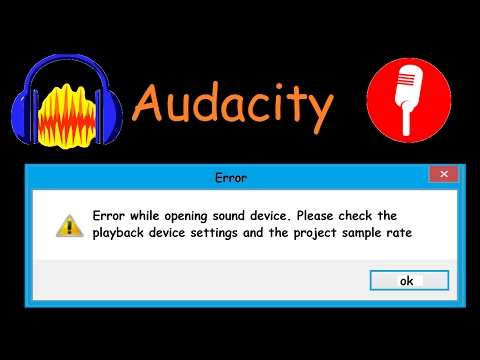 Audacity - Recording Device Settings and Project Sample Rate Solution