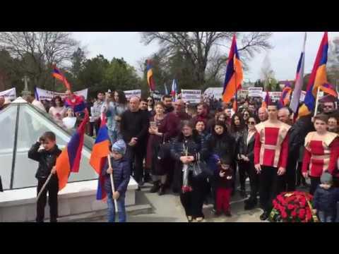 Митинг в Симферополе в память о жертвах геноцида армян