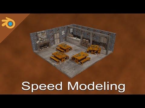 Old World Tavern Interior (3D Speed Modeling)