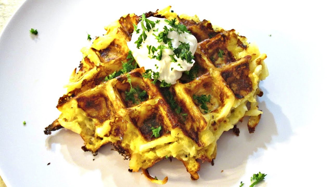 Potato Waffles - Hash Brown and Cheese Recipe ...