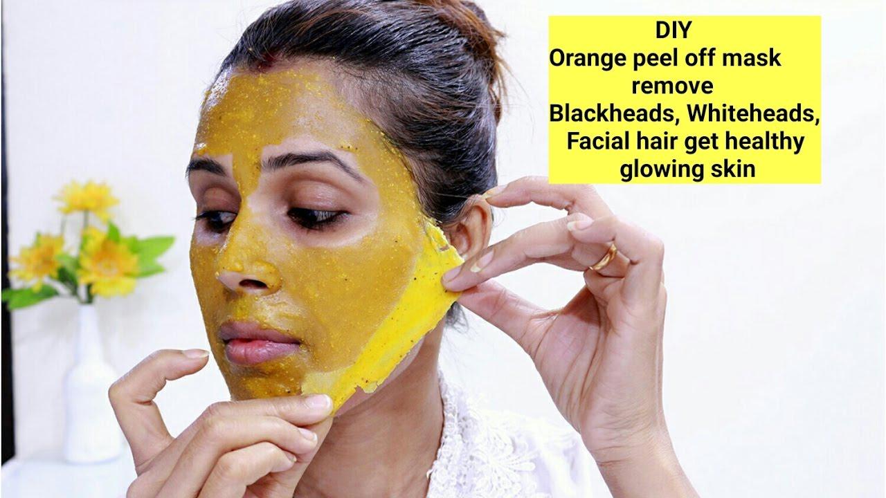 Diy Orange Peel Off Mask Remove Blackheads Whiteheads Facial