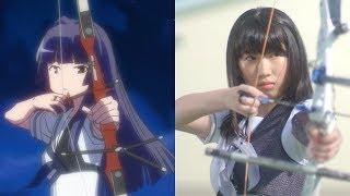Part11 次鋒戦 アニメと実写をシーン毎に交互に再生して比較してみた.
