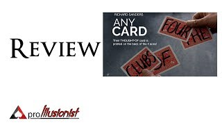 Any Card by Richard Sanders - Review - DEUTSCH