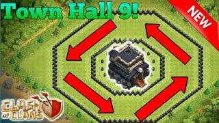 Clash of Clans | NEW TH9 Ring Base/Donut Base Trophy Base 2017 | Clash of Clan base