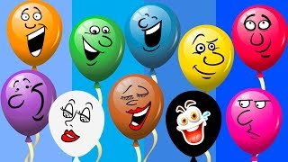 Learn Colors with Colorful Balloons Popping Finger Family Song Rhymes for Kids