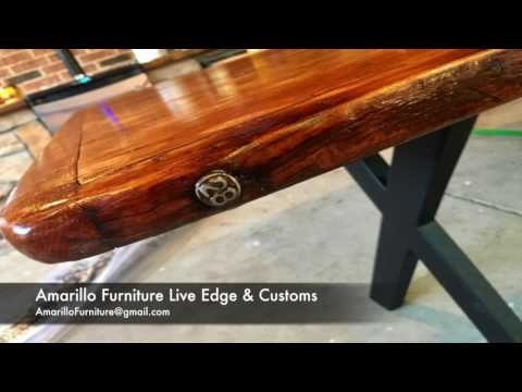 Outdoor Dining Table   Live Edge Furniture & Customs