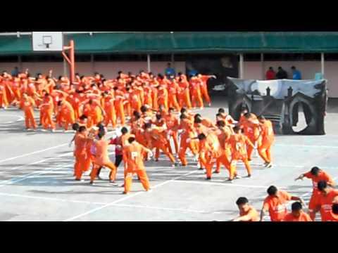Dancing Inmates performing Michael Jackson's