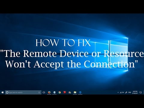 How to fix The remote device or resource won't accept the connection in  Windows 10 (Simple Fix)