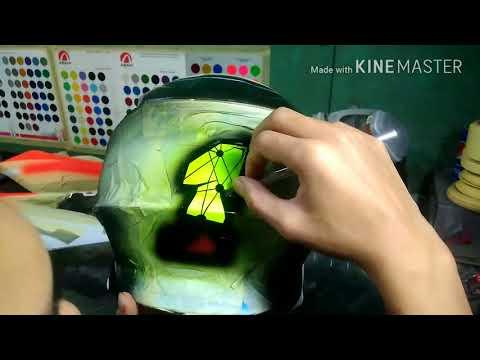 helm cross jpx airbrush grafis