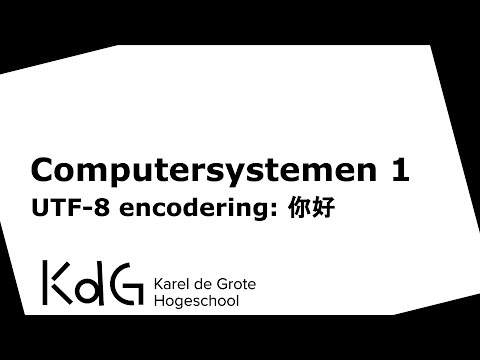 UTF-8 encodering: 你好