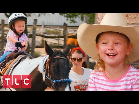 The Quints Go Horseback Riding! | OutDaughtered