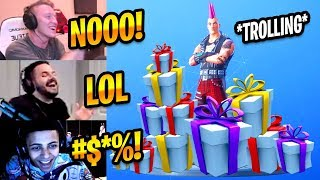 STREAMERS TROLLING EACH OTHER WITH NEW GIFTING SYSTEM - Fortnite Best & Funny Moments #239