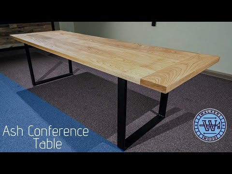 Conference Table- How to build a large table with metal bases