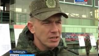 Учения бойцов ЦВО на Чебаркульском полигоне