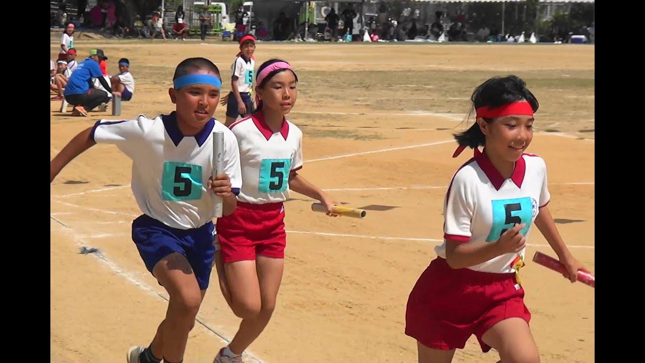 糸満市立米須小学校運動会 5・6年生のリレー H26.9.21