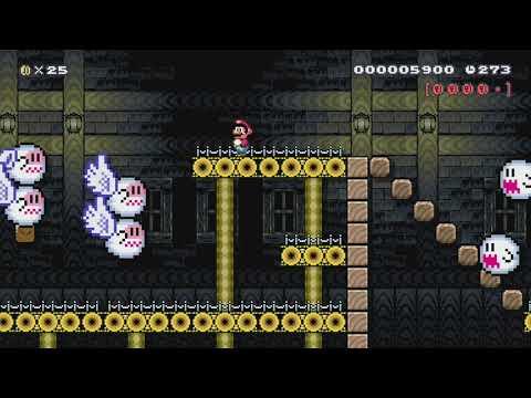 Vanilla Ghost House (SNES) by Nasetto BG - Super Mario Maker - No Commentary