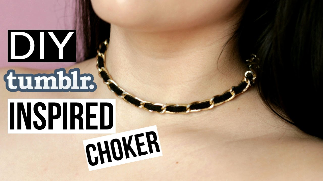 Diy Tumblr Inspired Choker Necklace Easy Quick Youtube