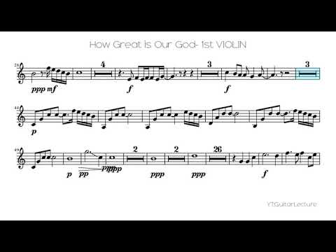 How Great Is Our God- 1st VIOLIN