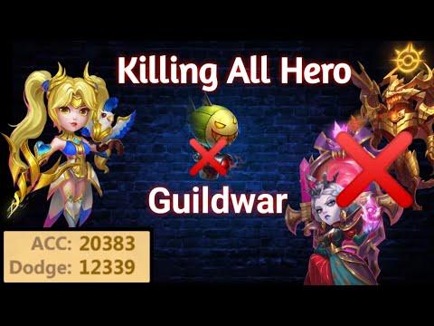 Guildwar | Killing All Hero 😎 | Without Zeph 😲 | Killer Dove And Asura | Top Guild | Castle Clash