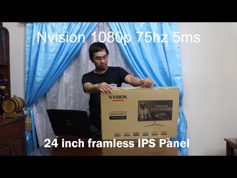"Unboxing/Review | Nvision 24"" 1080p 75hz 5ms IPS Frameless Borderless Monitor (IP24V1)"