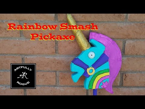 Building A Rainbow Smash Pickaxe From Fortnite
