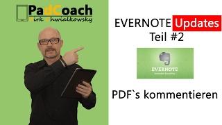 Evernote Updates #2: PDF´s kommentieren