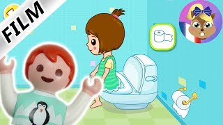 Film Playmobil en français | Emma joue seule avec l'application pour aller aux toilettes