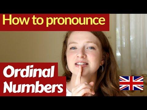 ORDINAL NUMBERS in ENGLISH