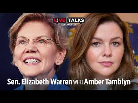Senator Elizabeth Warren in conversation with Amber Tamblyn at Live Talks Los Angeles