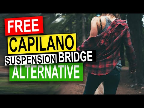 Lynn Canyon Park Suspension Bridge TOUR | North Vancouver B.C. (Capilano Alternative)