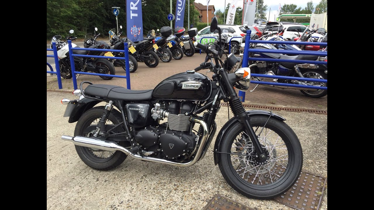 2015 Triumph Bonneville T100 Black Test Ride Review Youtube