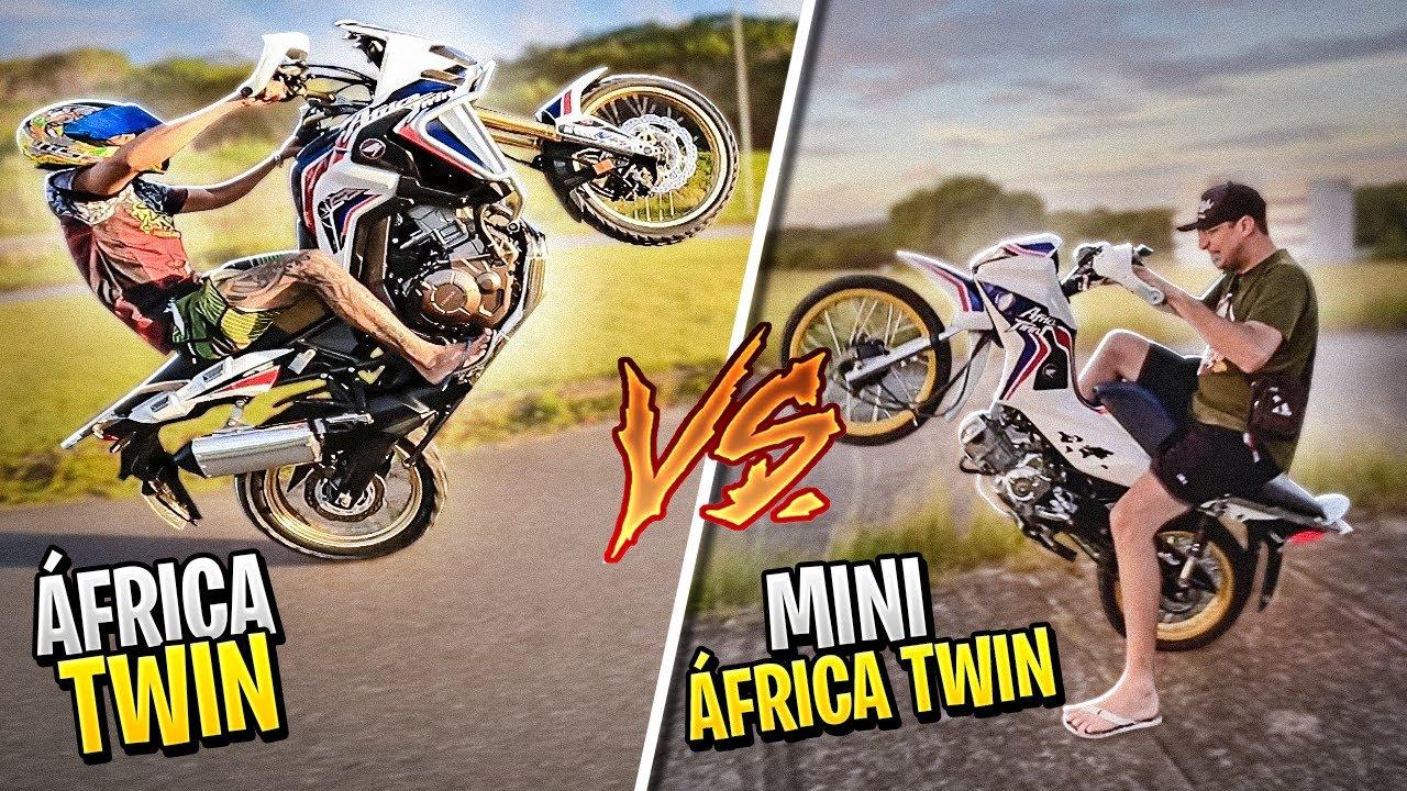 FUI DESAFIADO PELO DONO DA AFRICA TWIN COM A MINI AFRICA TWIN ! (TRETAAA)