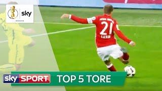 Top 5 Tore: Lahm filigran und Risse aus der Distanz | DFB-Pokal 2016/17 - 2. Runde