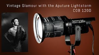 Vintage Glamour shoot with the Aputure COB 120D and Fresnel Adapter