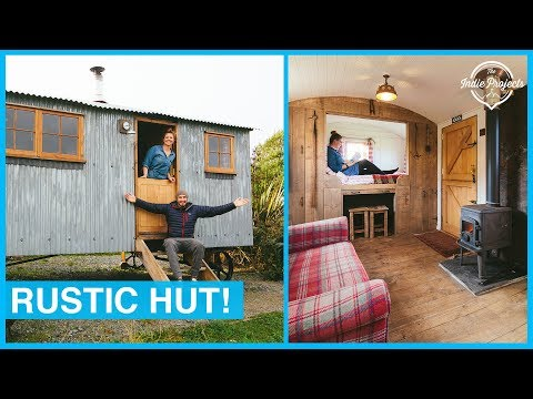 The Inside of this Tiny Home Amazed Us! Staying in a Shepherds Hut
