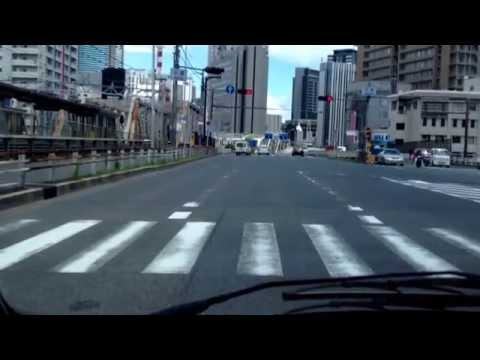 Driving around Osaka, Japan