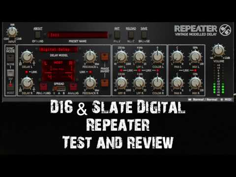 D16 & Slate Digital 'Repeater' Analog Vintage Modelled Delay Test and Review