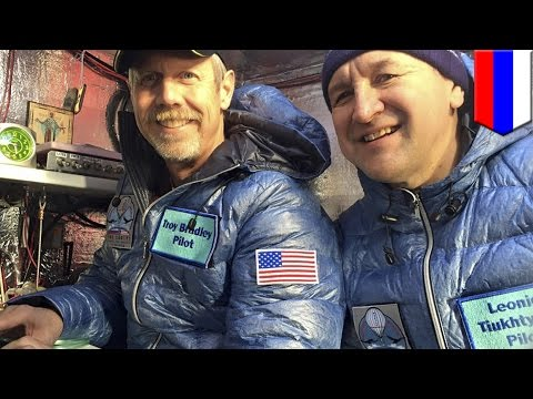 Balloonists Troy Bradley and Leonid Tiukhtyaev break world distance record in trans-Pacific flight