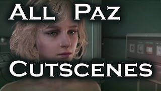 Metal Gear Solid 5 The Phantom Pain All Secret Paz Cutscenes